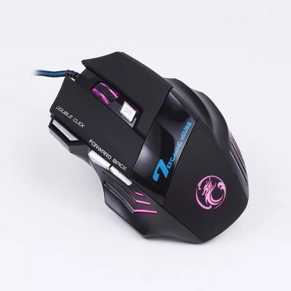 Mouse Profissional Gamer X72400 Dpi Usb 7botões Promoção