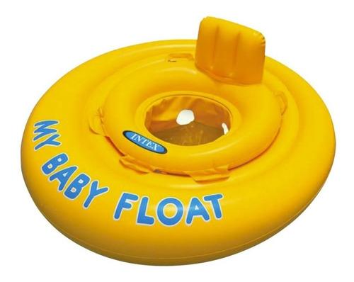 Flotador Niños Bebé Aro Amarillo Piscina Intex