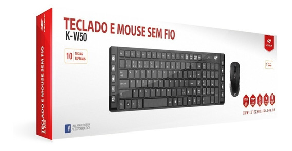 Kit Teclado E Mouse Sem Fio C3tech
