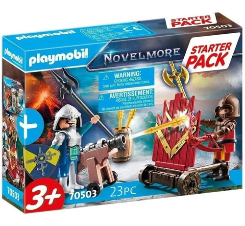 Imagen 1 de 7 de Playmobil Novelmore Duelo De Caballeros Con Cañon 70503 Pack