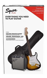 Kit Guitarra Electrica Fender Squier Stratocaster Combo Pack