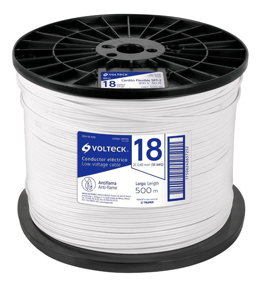 Cordón Dúplex Flex Spt 18 Awg Bobina 500m Cdu-18-500 40045