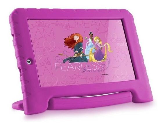 Tablet Disney Princesas Plus Wifi 16gb Dual Câmera Rosa