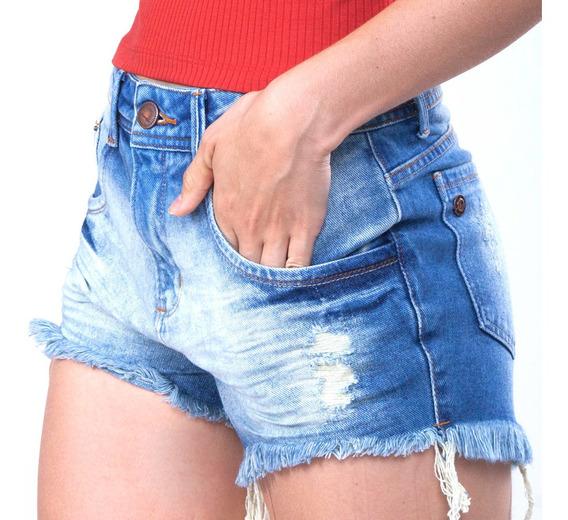 Short Feminino Jeans Light On Mormaii