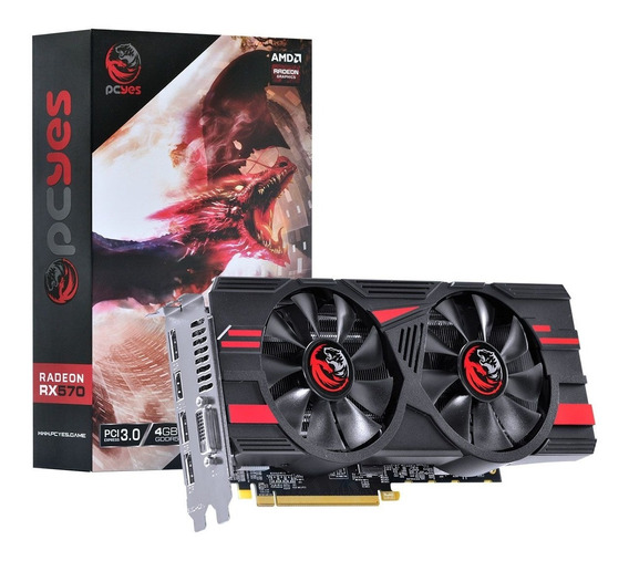 Placa De Vídeo Amd Gpu Rx 570 4gb Gddr5 256 Bits Atx