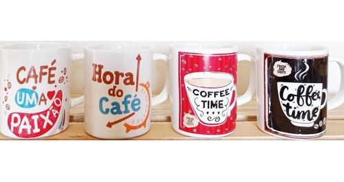 Imagem 1 de 5 de Caneca Xícara Café 100 Ml 4 Unidades