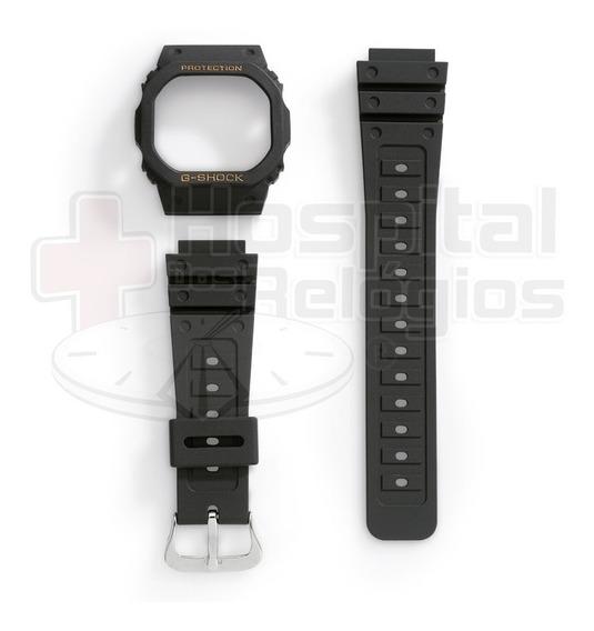 Kit Capa Pulseira Casio G-shock Dw-5600 Dw-5200 Dw-5000 Ouro