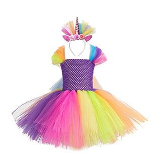 Cmiko Arcoíris Cinta Tutú Falda Traje Onesie Vestido Ballet