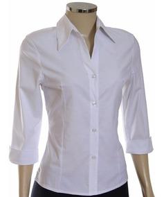 Camisete Manga 3/4 Camisa Feminina, Social, Blusa *fabrica*