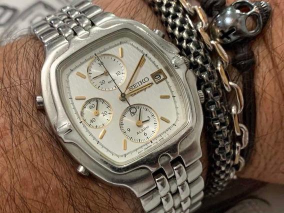 Seiko 7t32-5a30 Chronograph Quartz Sapphire