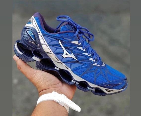 Tenis Mizuno Wave Prophecy7 Azul Novo Promoção