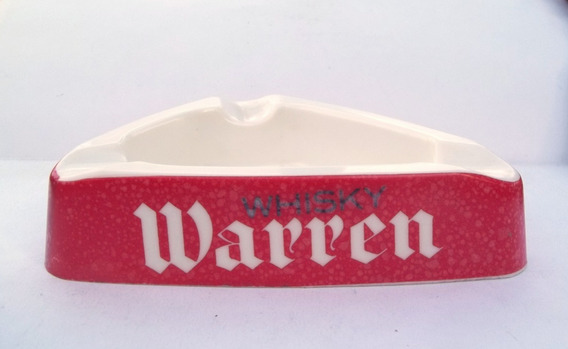 Cenicero De Bar Publicidad De Whisky Warren