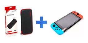 Kit Nintendo Switch - Capa Hard Case Dobe + Película Vidro