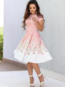 Vestido Midi Luxo Moda Feminina Evangélica
