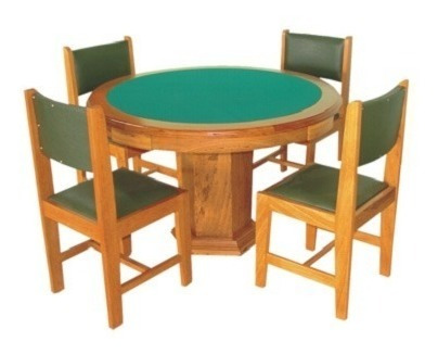 Mesa De Carteado 1,10 M Com 4 Cadeiras