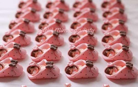 30 Lembrancinhas Maternidade/chá De Bebê Biscuit