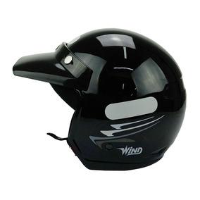 Capacete Taurus Wind V2 Speed Lines Aberto Pt Bril 58 Tam: M