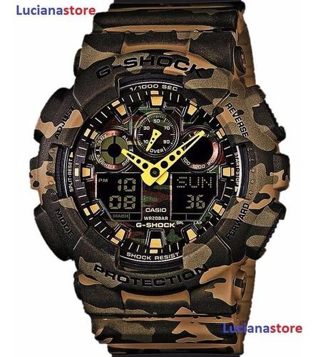Reloj Casio G-shock Ga-100cm Camuflado -100% Original  Ztr