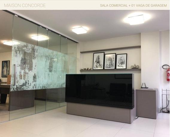 Sala Em Centro, Balneário Camboriú/sc De 95m² À Venda Por R$ 550.000,00 - Sa308421