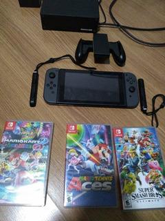 Nintendo Switch Usado + 3 Jogos Originais + Case Brinde