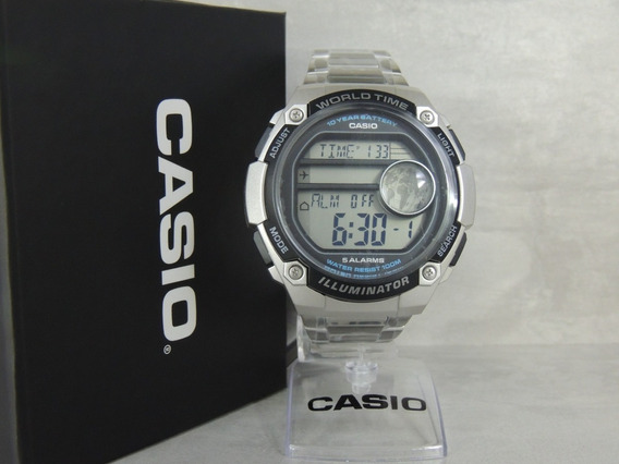 Relógio Casio Hora Mundial Ae-3000wd-1avdf - Nota Fiscal/gar