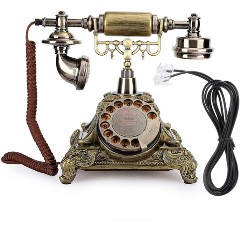 Teléfono Epoxi Vintage, Decoración Teléfono Para Elegante Ar