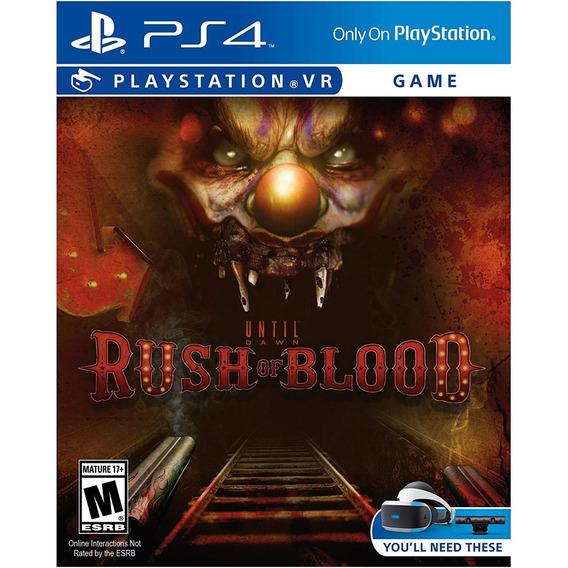Until Dawn: Rush Of Blood - Ps4 Vr Midia Fisica Lacrado Nf