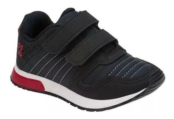 Tênis Jogging Infantil Klin 216028 Baby Walk Caramelo Preto