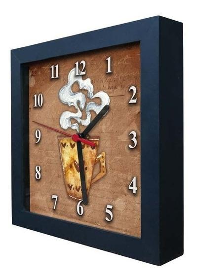 Relógio Decorativo Caixa Alta Tema Café - Qw013