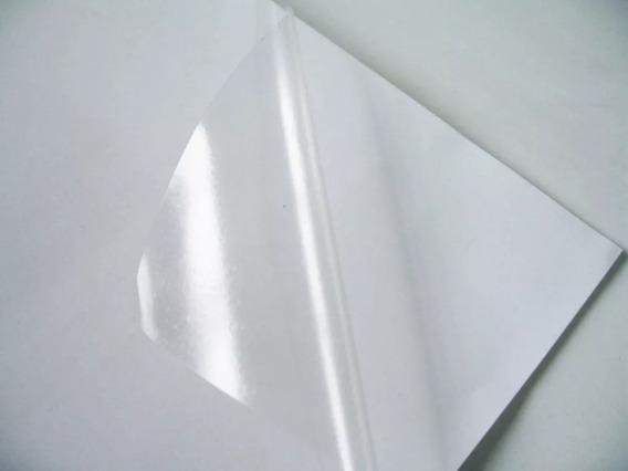 50 Fls Adesivo Vinil Transparente Brilhante A4 Laser