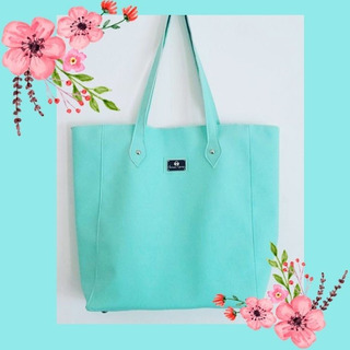 Cartera Tote Color Verde Aqua (35x40cm)