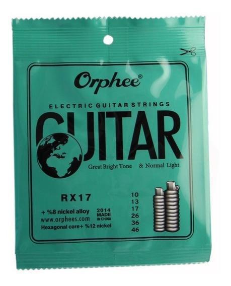 Encordoamento P/ Guitarra Cordas 0.10 Orphee (nig,sg,solez)