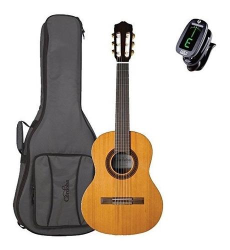 Guitarra Clásica Requinto 580 12 Córdoba Con Bolsa Lujo Y Si
