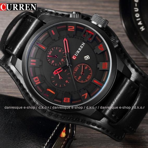 Relógio Curren 8225 Masculino De Luxo Cor Somente Preto Analógico