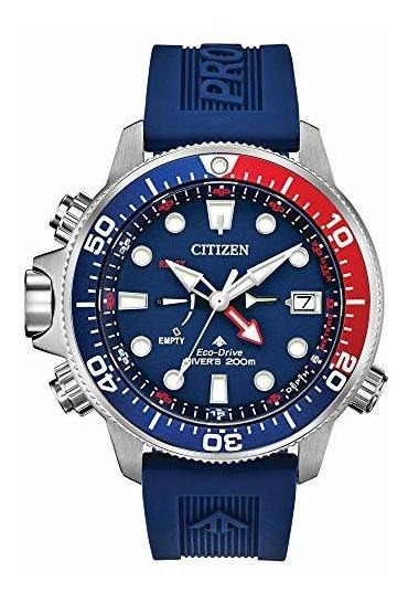 Reloj De Hombre Eco-drive Promaster Aqualand Azul Rojo Reloj