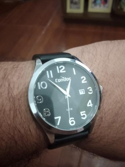 Relógio Condor Analógico Pulseira De Couro Social