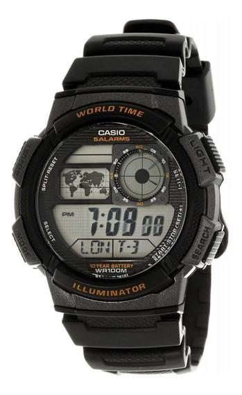 Relógio Masc. Sportivo Digital Grafit/pt Casio Ae-1000w-1av
