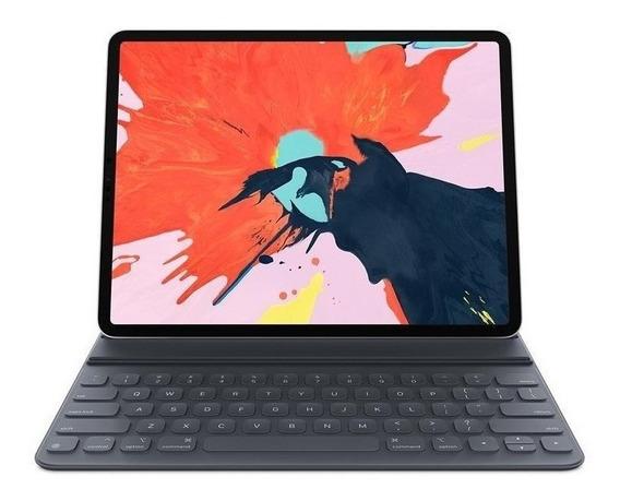 Capa iPad Pro 12,9 Apple, Com Teclado, Preta - Smart Folio