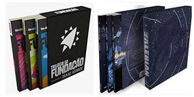 Box Trilogia Fundação Isaac Asimov + Box Valerian - 6 Livros