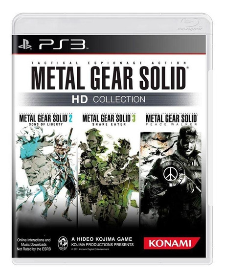Metal Gear Solid Hd Collection Ps3 Mídia Física