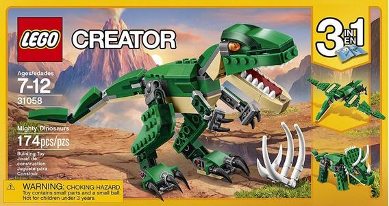 Lego Creator 3 En 1 Dinosaurios Cod 31058 Pzs 174 (23v)