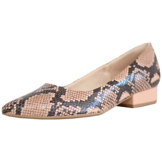 Sapato Feminina Couro Macio Usaflex Bico Fino Confort 6601