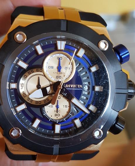Relógio Invicta Sea Hunter Cronógrafo De Quartzo Azul Ouro