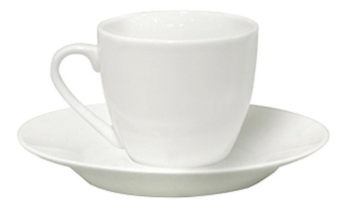 Taza De Te 220ml C/plato Porcelana Blanca Selecta