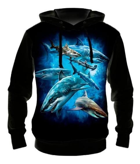 Blusa Moletom Tubarões - Casaco Frio