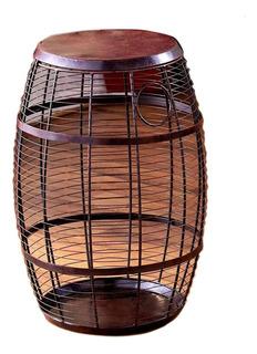 Mesa Tipo Barril De Soporte Para Corchos De Vino Decorativa