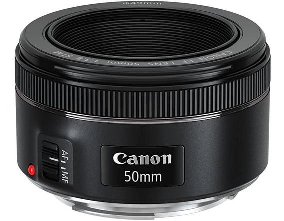 Lente Canon Ef 50mm F/ 1.8 Stm, Nova Lacrada De Fábrica.