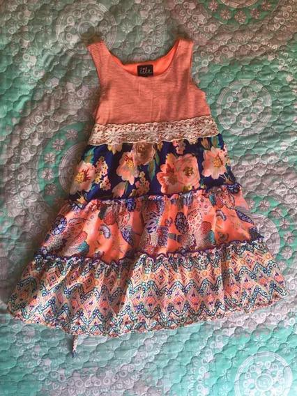 Vestido Flores De Niña Lilt Talla 6