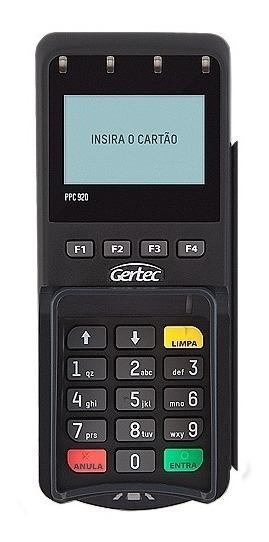 Leitor De Cartão Pin Pad Gertec Ppc 910 Usb -lacrado- Com Nf