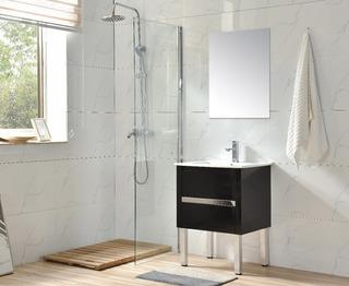 Mueble Para Baño Al60, Inc Placa Ceramica, Espejo Y Mono